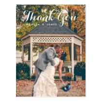 Thank You Whimsical Wedding Photo Postcard
