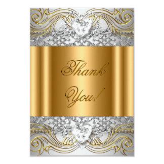 Thank You White Gold Birthday Party Diamond Card
