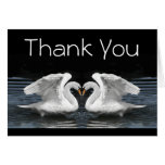 Thank You --  White Mute Swans Stationery Note Card
