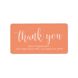 Thank You White Script - Custom Background Color Label