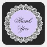 Thank You White Vintage Lace V53 PURPLE BLACK Sticker