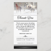Thank You - Winter Horses - Words Cannot Express
