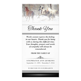 Thank You - Winter Horses - Words Cannot Express Photo Card