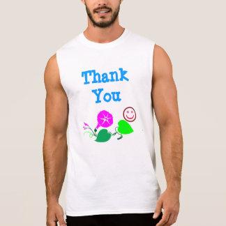 Thank You  :  Wisdom  n  Decorations Sleeveless Shirts