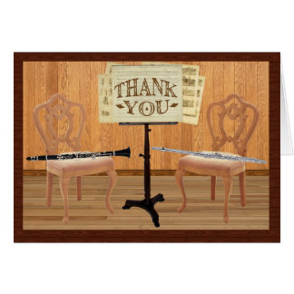 Thank You with Flute and Clarinet Greeting Card