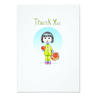 Thank You with Good Luck 5x7 Paper Invitation Card