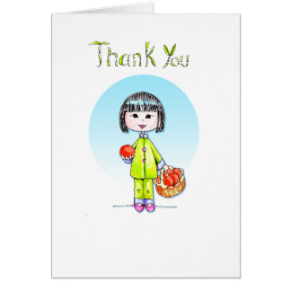 Thank You with Good Luck Stationery Note Card