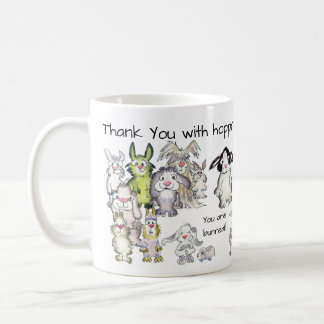 Thank You with Hoppreciation 21 Rabbits Mug