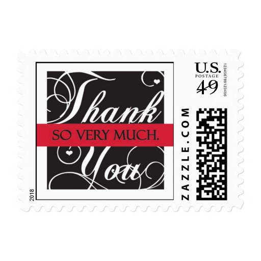 Thank- you with Love Stamps