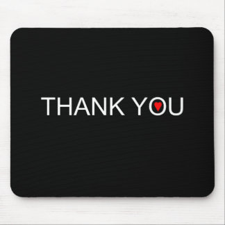 Thank you with one red heart mouse pad