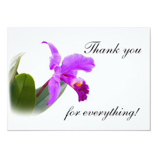 Thank You with Orchid Card