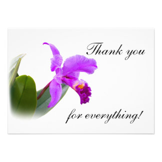 Thank You with Orchid Invitations