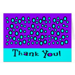Thank You With Random Outlined Circles Greeting Cards