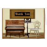 Thank You with Three Flutes and Piano Greeting Card