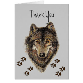Thank You, Wolves, Wolf Tracks Animal Card