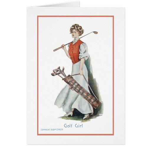 Thank You: Woman Golfer Greeting Card