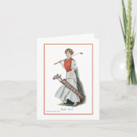 Thank You: Woman Golfer Thank You Card