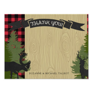 Thank You Woodland Forest Lumberjack Baby Shower Card
