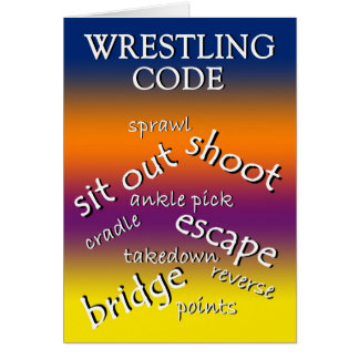 Thank You Wrestling Coach Greeting Card
