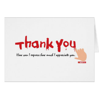 Thank You Written in Blood Card