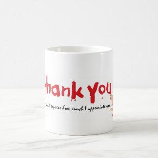 Thank You Written in Blood Coffee Mug