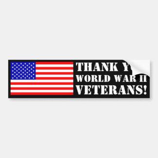 Thank You WW2 Veterans! Bumper Sticker