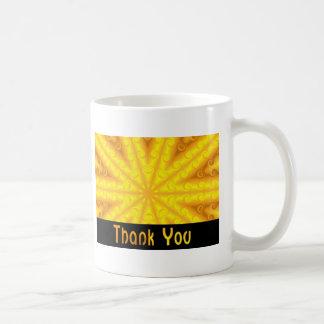 Thank You Yellow Coffee Mug