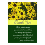 Thank you, yellow daisy flowers card