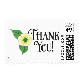 Thank You - yellow flower Stamps