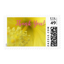 Thank You Yellow Flower Postage Stamp