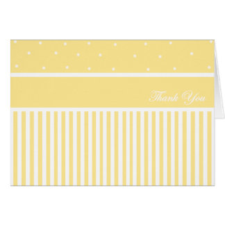 Thank You Yellow Stripe 2 Card