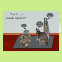 Thank You, Yoga Instructor Greeting Cards