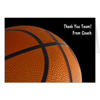 Thank Your Basketball Team Cards