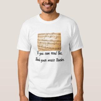 Thank your music teacher t shirt