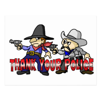 Thank Your Police Postcard