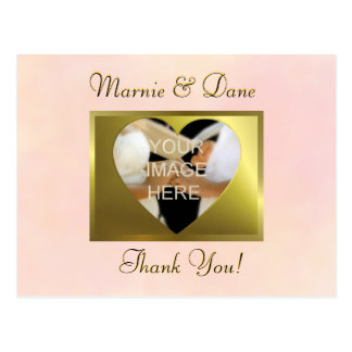 Thank Your Postcard   Vintage Pale Pink Collection