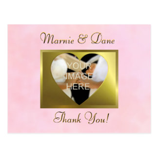 Thank Your Postcard   Vintage Pink Rose Collection