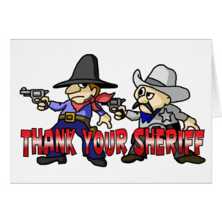 Thank Your Sheriff Card