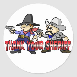 Thank Your Sheriff Classic Round Sticker