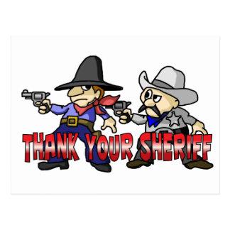 Thank Your Sheriff Postcard