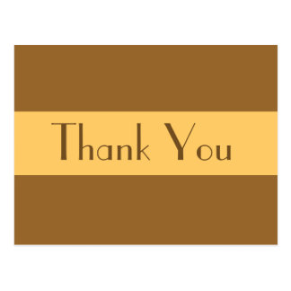 Thank Yousimple light brown Postcard