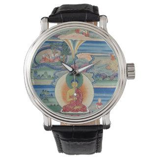 Thanka pintado Bhutanese de los cuentos de Jataka Relojes De Mano