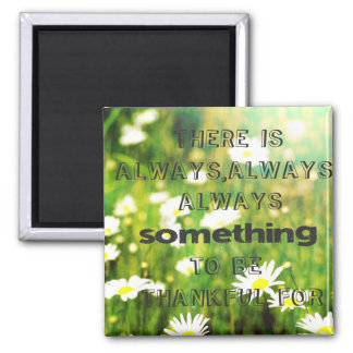 Thankful 2 Inch Square Magnet