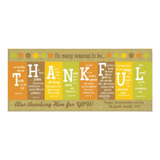 THANKFUL 2-Sided Scripture Thanksgiving Card