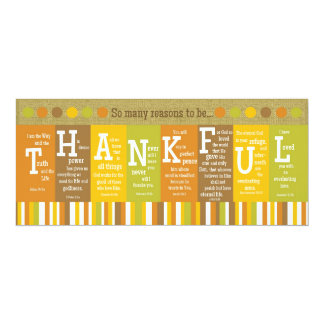 THANKFUL 2-Sided Scripture Verse Thanksgiving Card