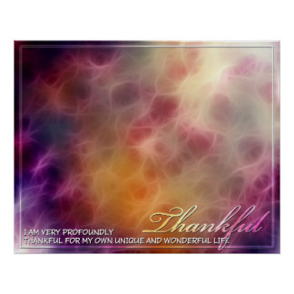 Thankful Abstract Energy Print