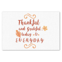 thankful and grateful thanksgiving tissue paper