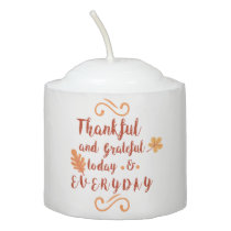 thankful and grateful thanksgiving votive candle