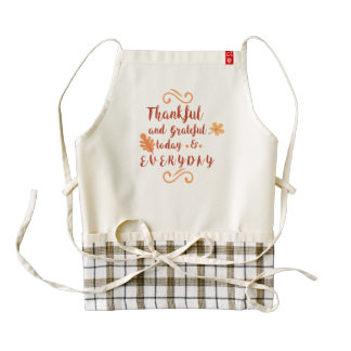 thankful and grateful thanksgiving zazzle HEART apron