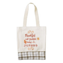 thankful and grateful thanksgiving zazzle HEART tote bag